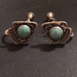 Jewelry - Vintage sterling silver screw on earrings